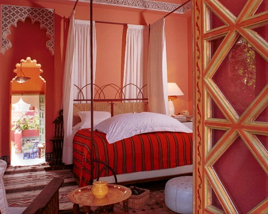 Morrocan style for bedroom ideas 530x424  ديكورات جبس مغربي